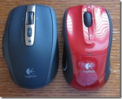 Logitech Anywhere Mouse MX comarison with v450