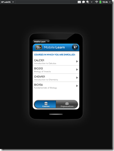 hp touchad app features